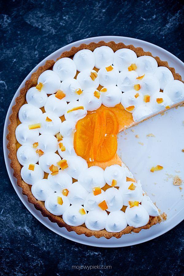 Tarta pomarańczowa z bezą włoską