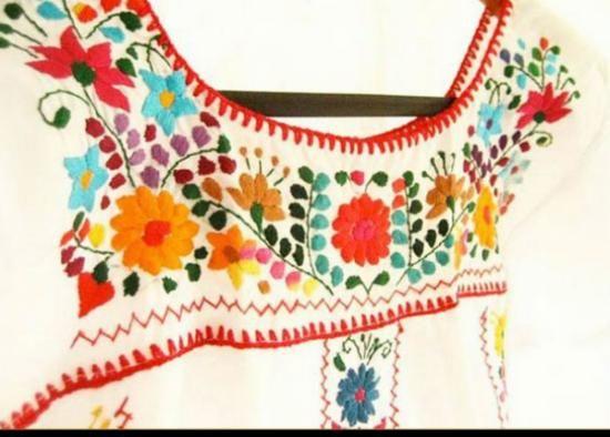 mexicanos blusas y vestidos bordados hilo bordado