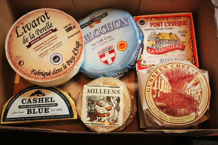 This morning's delivery of Irish and French farmhouse cheeses.....there is a god;)