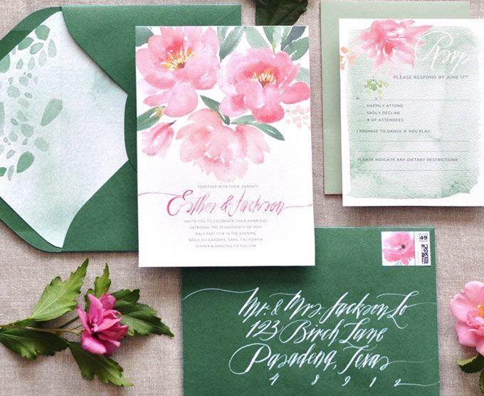 16 Modelos lindos e grátis de convites de casamento para baixar! - Salve a Noiva