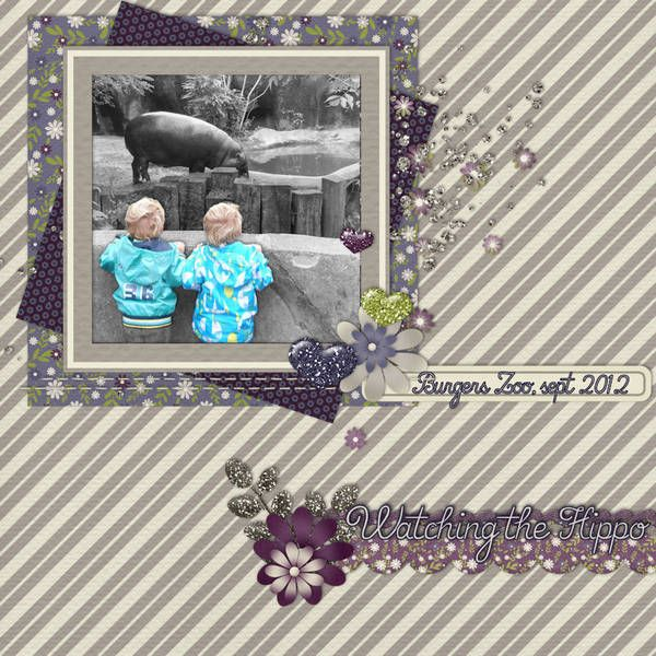 Watching the Hippo (by boba80)  Credits: Bluebird by Lindsay Jane Designs {kit} and That's all Fonts! {font}