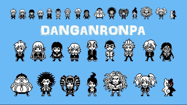 Dangan Ronpa Pixel Tumblr Sprites, Families and ...