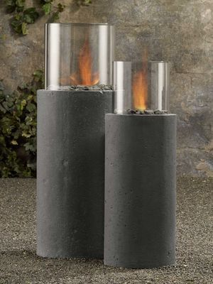 diy cement form column | Concrete furniture on a diet: Cool looks, lighter weight - latimes.com