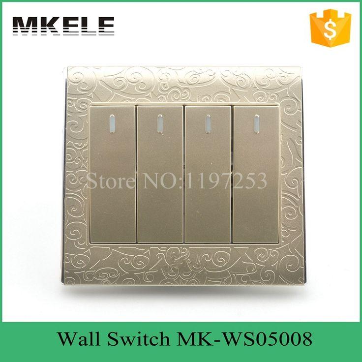 $9.98 (Buy here: https://alitems.com/g/1e8d114494ebda23ff8b16525dc3e8/?i=5&ulp=https%3A%2F%2Fwww.aliexpress.com%2Fitem%2FImpact-resistance-wholesale-classical-fashion-design-4-Gang-2-way-switch-led-touch-light-switch-electric%2F32391478766.html ) MK-WS05008 Impact resistance wholesale classical design 4 Gang 2 way switch led touch light switch,electric wall light switch for just $9.98