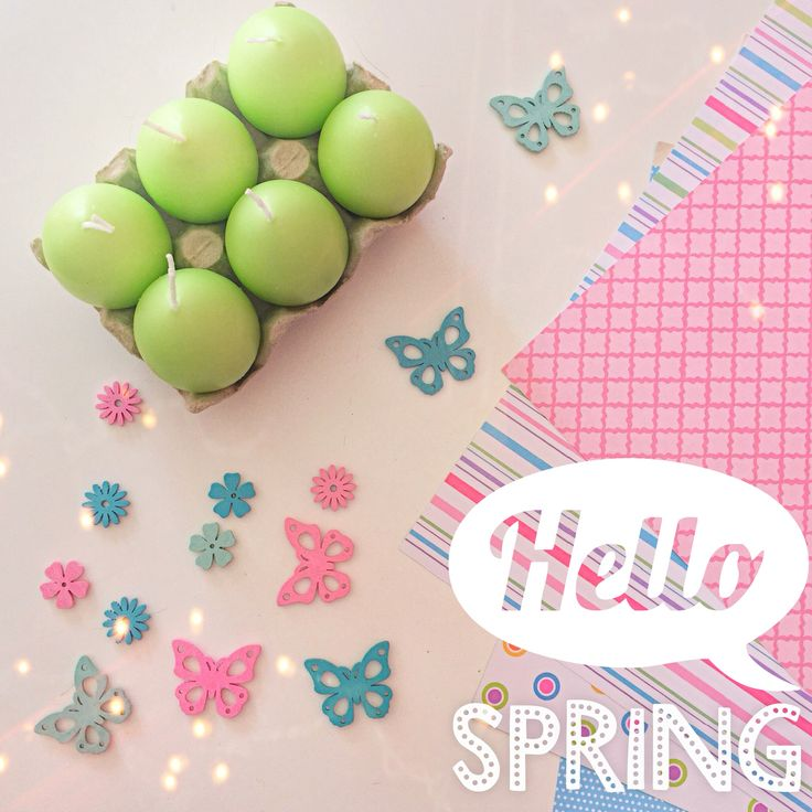 Scrap paper and decor for spring!!!