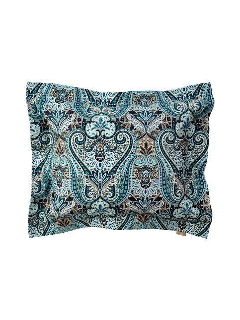 Kauniisti kuvioitu Villa Stockmann -tyynyliina on miellyttävän tuntuista puuvillasatiinia.