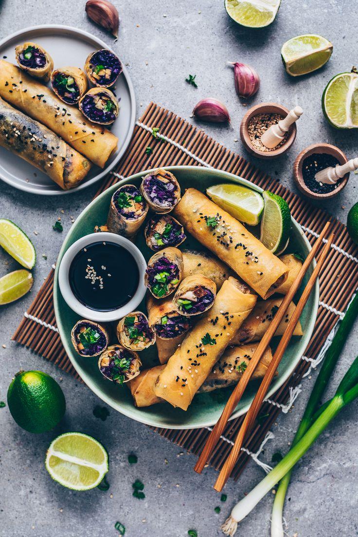 Crispy Vegan Spring Rolls Recipe Vegan spring rolls