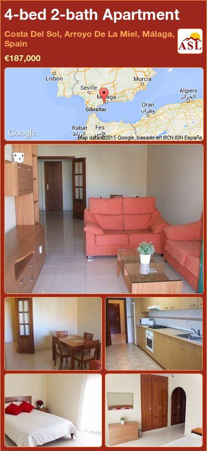 4-bed 2-bath Apartment in Costa Del Sol, Arroyo De La Miel, Málaga, Spain ►€187,000 #PropertyForSaleInSpain