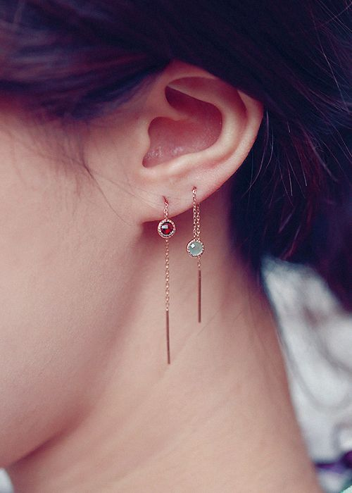 silver earrings. / material : Sterling silver (silver 925)