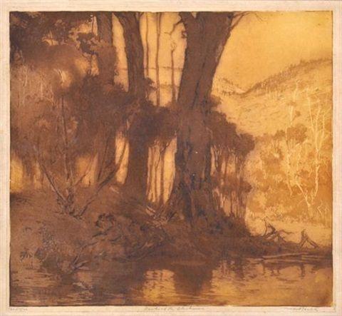 "Henri van RAALTE ""Banks of the Blackwood"" c. 1916-20"
