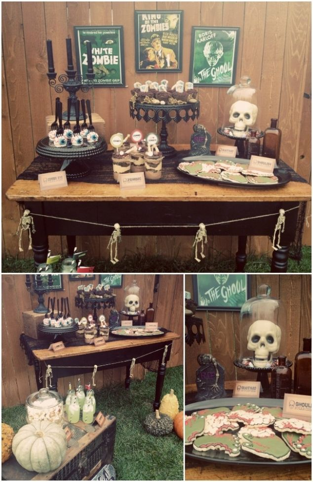 Vintage Zombie Halloween Party Ideas and Supplies