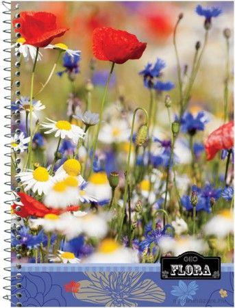 Spirál füzet, A4,Geo Flora,négyzethállos