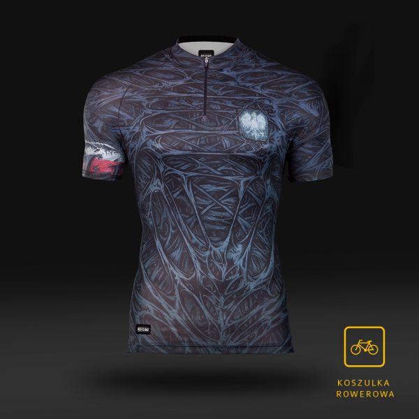 Koszulka sportowa Koszulka rowerowa BioPancerz polskiego Superbohatera  - odzież sportowa Red is Bad