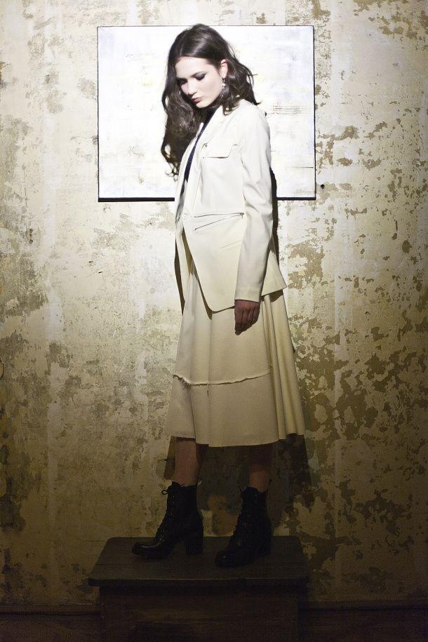 blazer, wrap skirt, konsanszky, aw2014