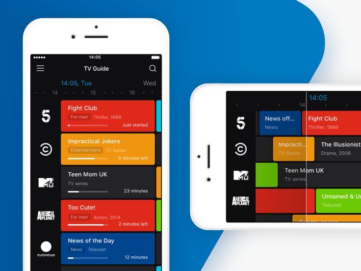 App for a digital TV operator / TV Guide