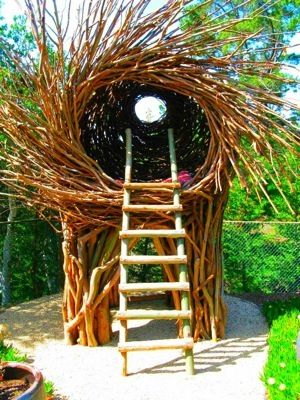 """""""Spirit Nest"""" Each nest is a one of a kind interactive and functional art sculpture that is intended for people of all ages. The price of the Spirit Nest includes start-to-finish on site installation.Keep in mind that I can custom make Nests for your price range.Shipping and handling is a separate price quote."""