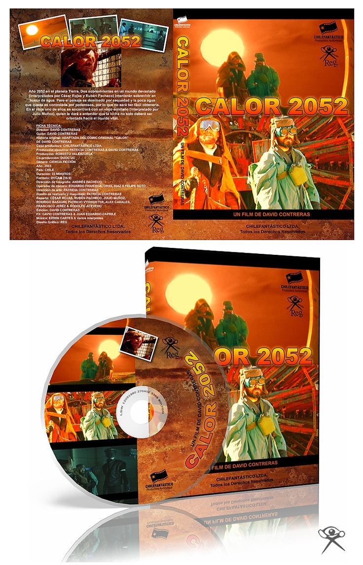 "Cover DVD for the Film ""Calor 2052"". Productora Chilefantástico."