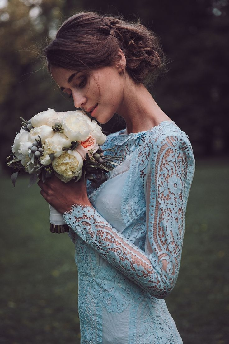 Rhapsody in Blue: Pale Blue Wedding Dresses by Katya Katya Shehurina | Love My Dress® UK Wedding Blog
