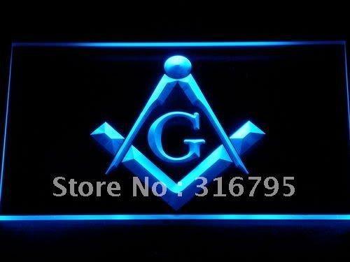 709 Masonic Mason Freemason Emblem LED Neon Sign with On/Off Switch 20+ Colors 5 Sizes to choose