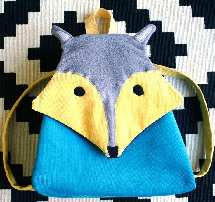 """Backpacks for kids handmade fox Χειροποίητο νηπιακό παιδικό σακίδιο πλάτης """" Αλεπού"""""""