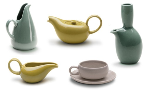 American Modern Collection designed by Russel Wright in 1937 has been re-launched by Bauer Pottery and is being sold at twentytwentyone.: Google Image, Kitchens Shelves, American Modern, Google Search, Wright Pottery, Bauer Pottery, Century Modern, Russell Wright, 1 Kitchens