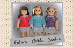 """Ravelry: American Girl Doll 18"""" - Patrice, Candice and Anieka pattern by Tammie Goldthorpe"""
