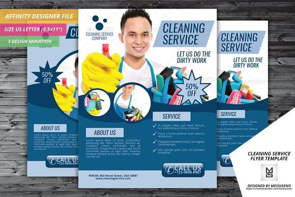 cleaning service flyer template by meisuseno on creativemarket