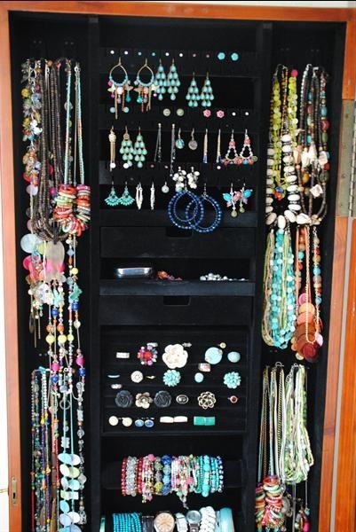 Grote foto sieradenkast spiegel en opbergsysteem sieraden juwelen voor haar
