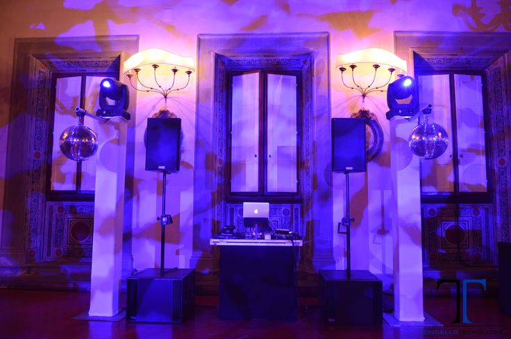 LUCE ARCHITETTURALE,  LED RICARICABILI SENZA FILI, LUCI BISTROT, DANCE FLOOR IMPIANTO AUDIO, SUBWOOFER; CONSOLLE DJ PIONEER 2000 NEXUS. TORRETTE  LYCRA BIANCA, TESTE MOBILI, PALLE A SPECCHI,  TITAN ONE DMX SOFTWARE, ARCHITECTURAL LIGHTING, WIRELESS LED, BISTRO LIGHTS, DANCE FLOOR, AUDIO SYSTEM, SUBWOOFER; PIONEER DJ 2000 NEXUS CONSOLE, WHITE LYCRA TOWERS, MOVING HEAD FIXTURES, MIRROR BALLS, TITAN ONE DMX SOFTWARE, TONDELLO TECNOLOGIE, SIRIO
