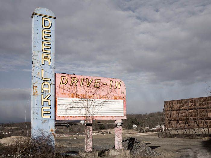 Abandoned Drive In Movie theater in deerlake