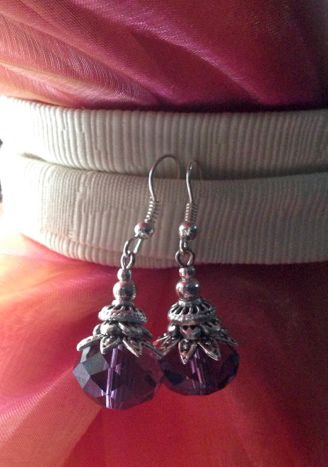 Handmade in Morocco in an ethically and environmentally friendly manner. Purple sparkle earrings! oneearthbydanielle@gmail.com - Free shipping! Get these for $22.95 + tax Canadian