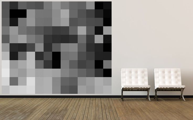 Wallpaper PIXEL grey by MaxJenny for DesignM Collection. Www.designmaklarna.se