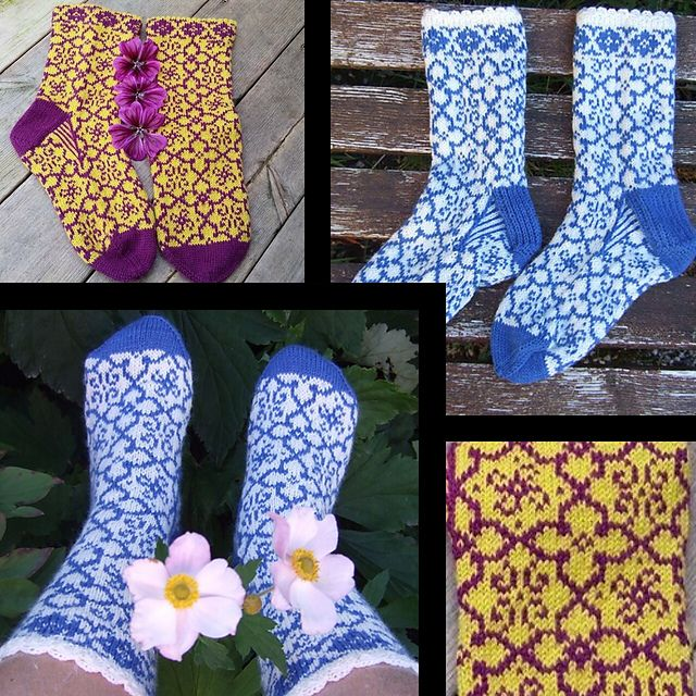 Sienna Socks – a free knitting pattern by JennyPenny. Instructions available in Swedish and in English.