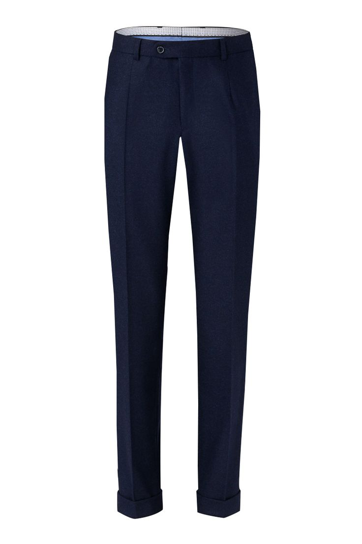 Benevento Wool Flannel trousers, 100%Wool 100'S Vitale Barberis Canonico Flannel in Dark Navy is ideal for colder months for sharp dapper look and cozy fealing
