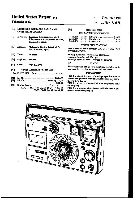 Introduced as the National Panasonic RF-5410LBS in 1977,D244102 was created in 1976.