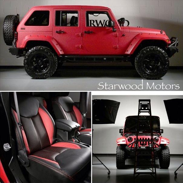 Starwood Custom Red Kevlar Jeep Wrangler W/ Lifted Offroad