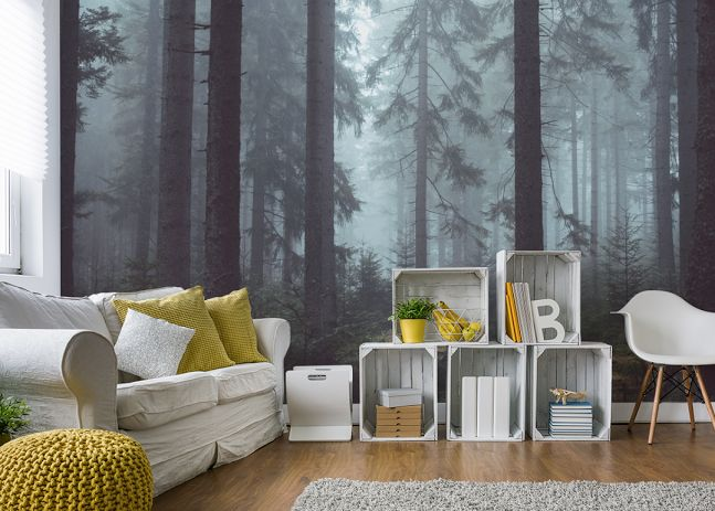 Forest Easywallz Living Room