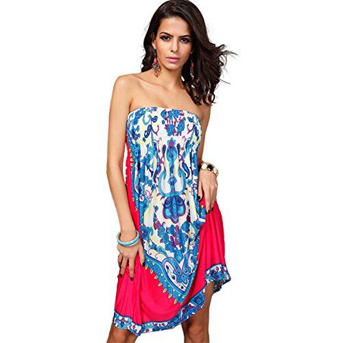 Katuo Womens Knee Length Dress Bodice Cover up Plus Size Rosy * Find out more about the great product at the image link.