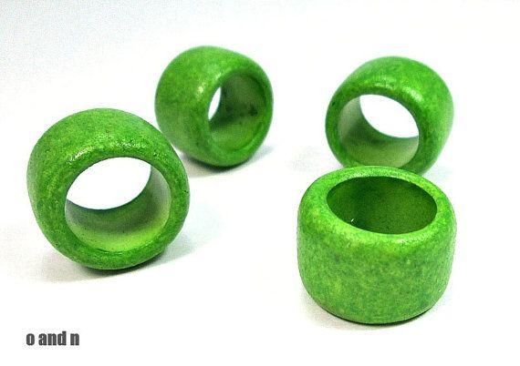 X-large tube beads green greek ceramic beads  by OandN  #beads #green #jewelrysupplies #jewelrymaking