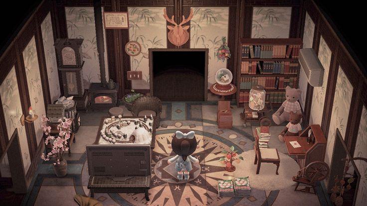 acnh room decor in 2020 | Animal crossing, Cozy living ... on Animal Crossing New Horizon Living Room Ideas  id=38090