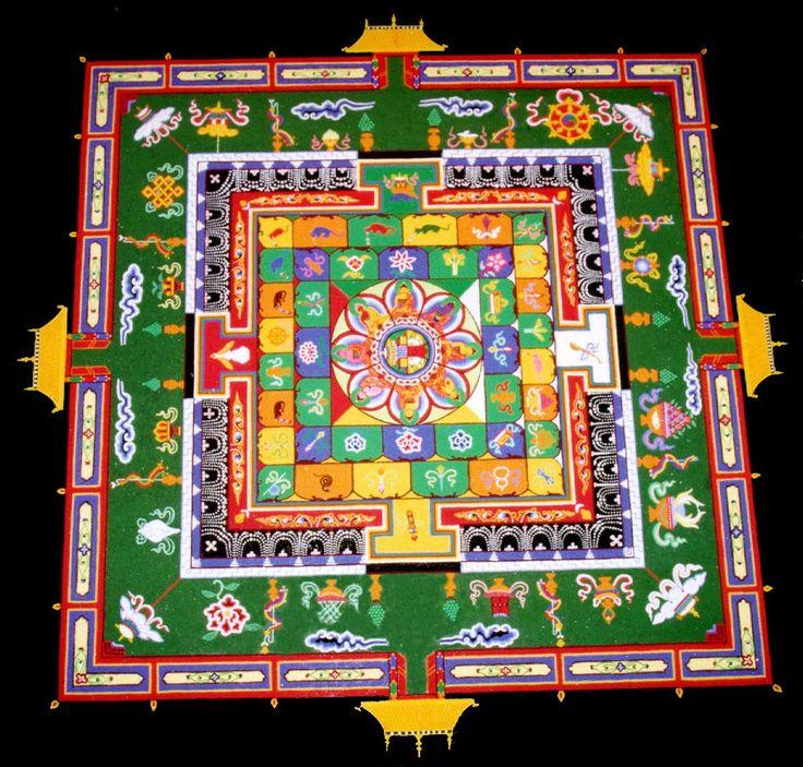 Tibetan sand painting