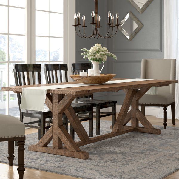 Three Posts Winthrop Solid Wood Dining Table Reviews Wayfair Dining Room Table Decor Wood Dining Table Dining Table In Kitchen