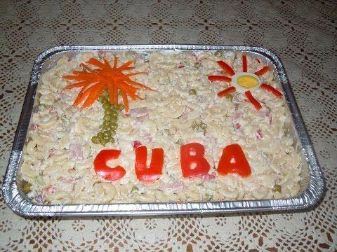 Ensalada Fria de coditos ! Ensalada fria cubana l yasobas vlogs - YouTube