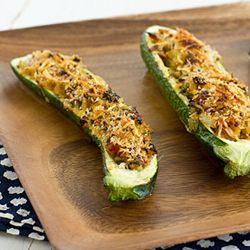 about Vegetarian Stuffed Zucchini on Pinterest | Zucchini, Vegetarian ...