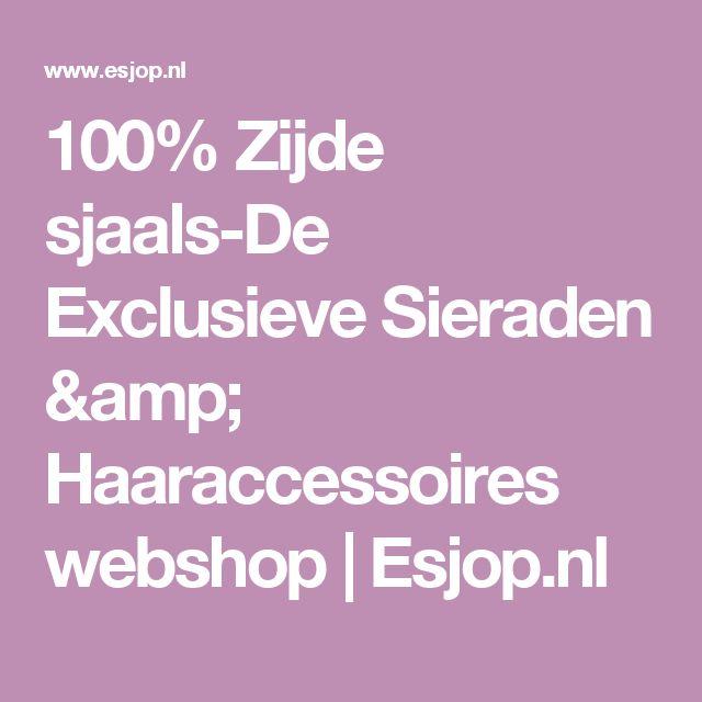 100% Zijde sjaals-De Exclusieve Sieraden & Haaraccessoires webshop | Esjop.nl