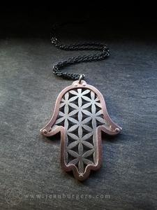 Hamsa Protection Pendant - Flower of Life