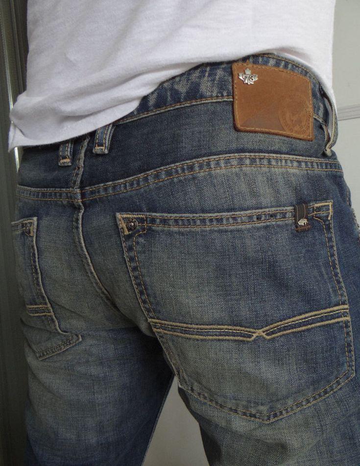 NWOT BUFFALO David Bitton Men Jeans Basic Six Low Rise Slim Straight Leg 36 x 32 #BuffaloJeans #SlimStraight