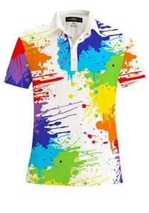 ladies golf polo | #golf4her #loudmouthgolf ~the perfect golf shirt for an artist and golfer.