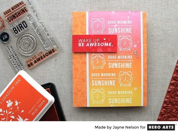 Colorful Backgrounds with Clearly Kelly Stamps