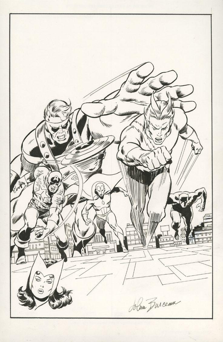 AVENGERS #75 COVER RECREATION ( JOHN BUSCEMA ) Comic Art